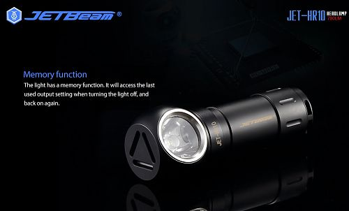 Налобный фонарь JETBeam HR30 с USB зарядкой и красным светом  Встроенная зарядка, клипса, встроенная зарядка usb