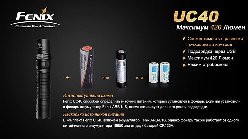 Светодиодный универсальный фонарь. Возможность USB подзарядки