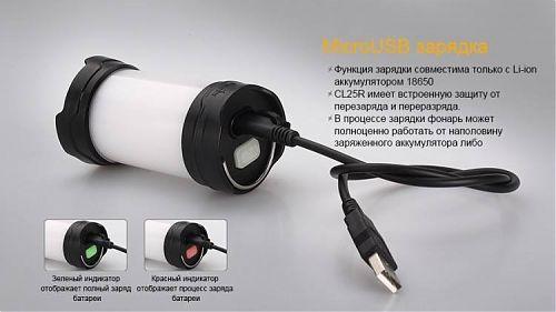 Кемпинговый фонарь Fenix CL25R  350 лм., 6 режимов работы,micro-USB, крепление на штатив