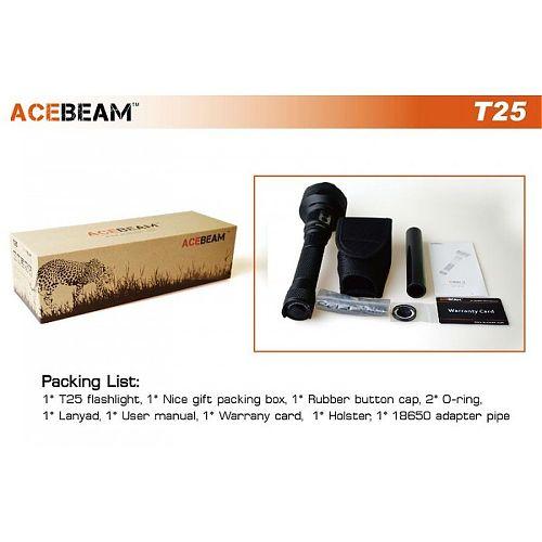 Дальнобойный поисковый фонарь Acebeam T25