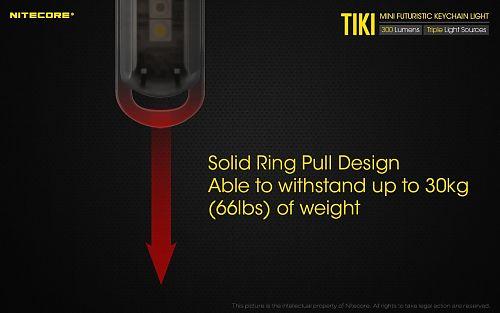 Наключный фонарь NITECORE TIKI Grey primary OSRAM P8  белый + УФ свет 500mW 365nm зарядка от microUSB