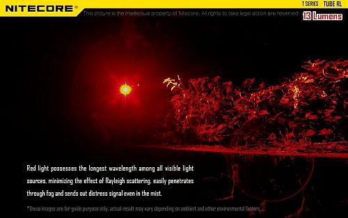 Фонарь Nitecore TUBE RL  Фонарь-брелок с красным светом
