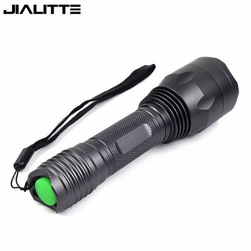 Фонарь F136 Cree 3*Q5  Ручной фонарь. Зеленый свет