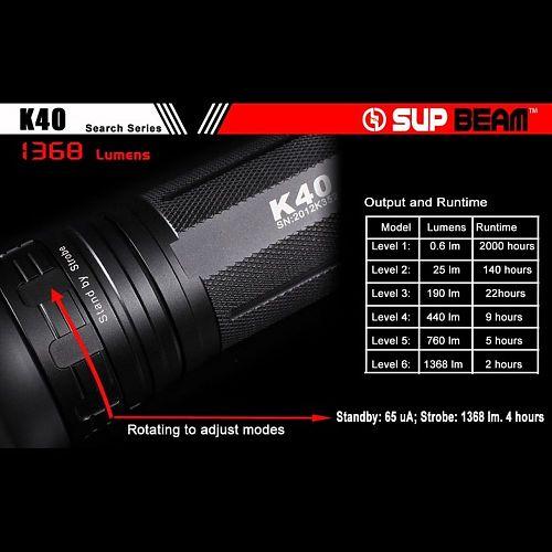 Поисковый фонарь Supbeam K40M MT-G2