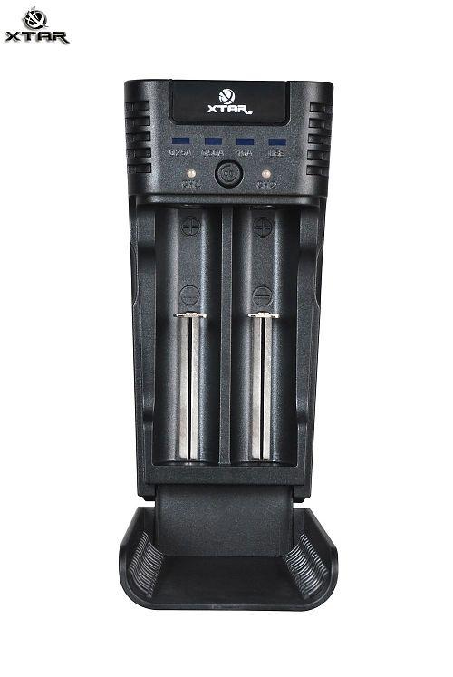 Зарядное устройство XTAR WP2s для Li-ion аккумуляторов  Для Li-ion аккумуляторов. Регулируемый вручную уровень тока.POWERBANK