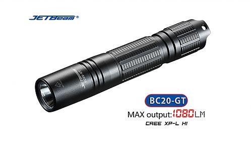 Ручной фонарь Jetbeam BC20-GT  Компактный мощный фонарь 1080 лм.