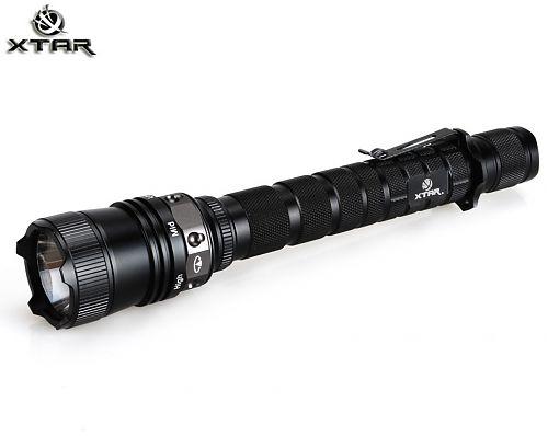 тактический XTAR TZ60 Tactical (комплект)  Тактический фонарь 800 лм. Магнитное кольцо управления. Клипса для крепления