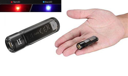 Наключный фонарь NITECORE TIKI LE Black primary OSRAM P8  доп красный и синий свет