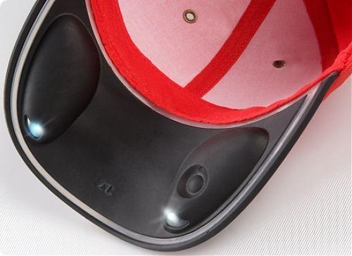 Эко-бейсболка с фонариком-козырьком   встроенный аккумулятор, заряжается от солнечных батарей