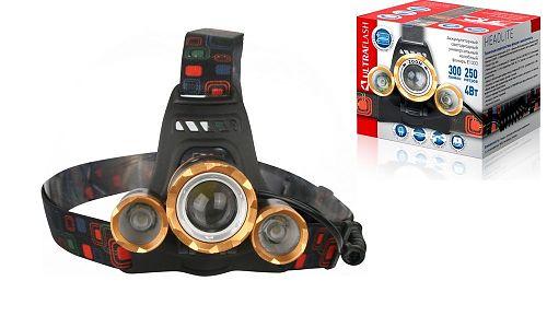 Светодиодный налобный  фонарь Ultraflash E1333 с фокусировкой луча комплект