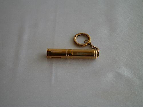 Фонарь брелок. Подарочный вариант с золотым покрытием