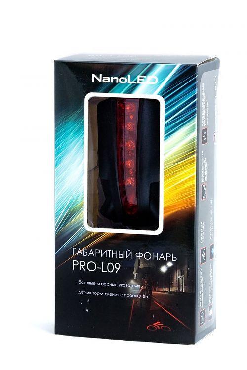 Габарит велосипедный NanoLed PRO-L09  Габарит с лазерной проекцией велосипедиста.Светодиоды и лазер.