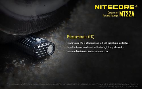 Nitecore MT22A Black  питание от 2хАА. вес 49 гр. Клипса