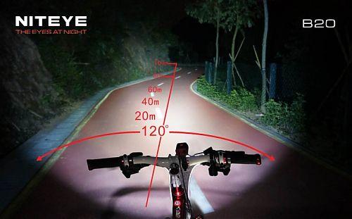 Мощный и компактный велофонарь с удвоенным светодиодом