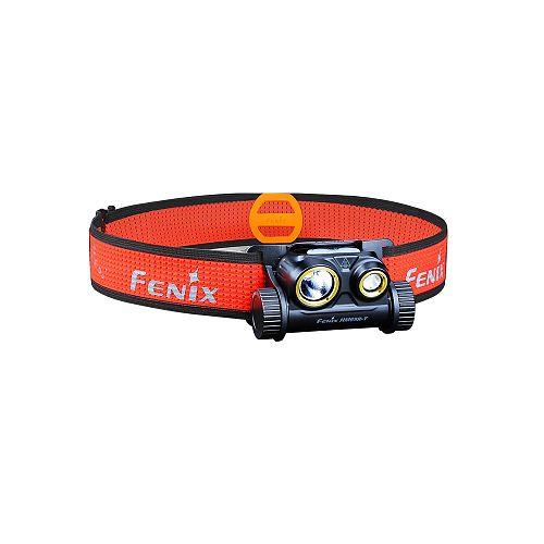 Легкий налобный фонарь с дальним и ближним светом Fenix HM65R-T  Суперлегкий. Ближний и дальний свет.