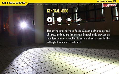 Nitecore R25  Тактический фонарь с док станцией