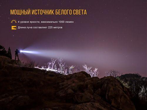 Фонарь Fenix TK25RB  Тактический фонарь, Дополнительные красный и синий свет.