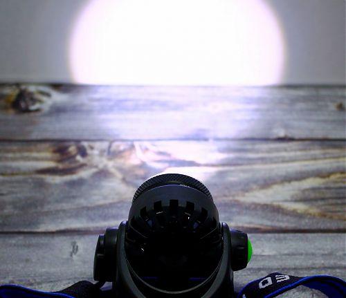 Налобный фонарь с зумом FOCUSray 1058   питание 3шт*ААА (может от 18650 работать)