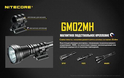 Магнитное подствольное крепление NITECORE GM02MH  Совместимость с фонарями диаметром корпуса 25.4мм