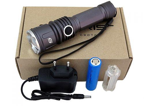 SOLARIS FZ-50 Светодиодный фонарь с комплектацией  Мощный фонарь с функцией фокусировки и встроенным портом подзарядки