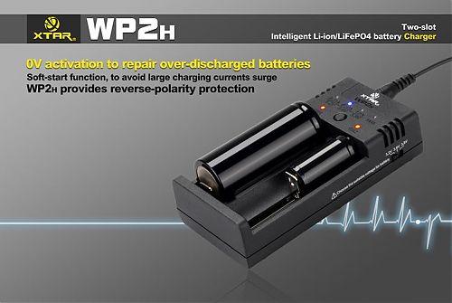 Зарядное устройство XTAR WP2H Intelligent для Li-ion/LiFePO4 аккумуляторов  Для Li-ion и Li-FePO4 .Регулируемый в ручную уровень тока.POWERBANK