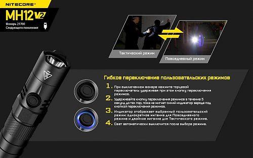 тактическая кнопка в торце фонаря