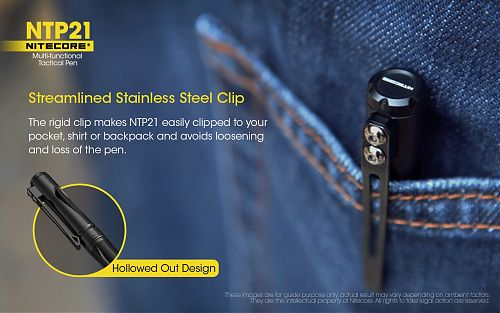 Тактическая ручка Nitecore NTP21  Стильный дизайн, прочный корпус и эргономичная форма