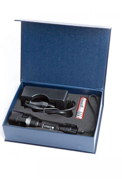 SANGUAN C8 (WF-C8 T6)  Надежный мощный ручной фонарь. Максимальная яркость 1200 лм.  Комплект