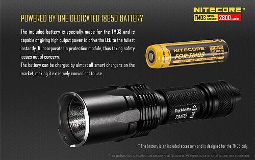 Фонарь Nitecore TM03  2800 лм. на аккумуляторе IMR(в комплекте) Отдельная кнопка Strobe