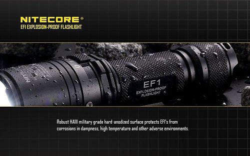 Фонарь Nitecore EF1 CREE XM-L2 U3 Взрывозащищенный  Взрывозащищенный ручной фонарь. EX d ||C T5 Gb