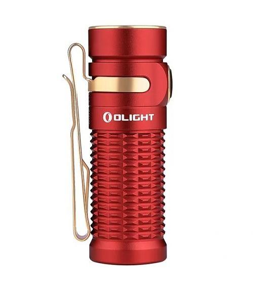 Перезаряжаемый светодиодный фонарь Olight Baton 3 Red купить с доставкой по России в магазине Fonariki.ru  Лимитированная серия. Переносной магнитный USB кабель Olight MMC3.