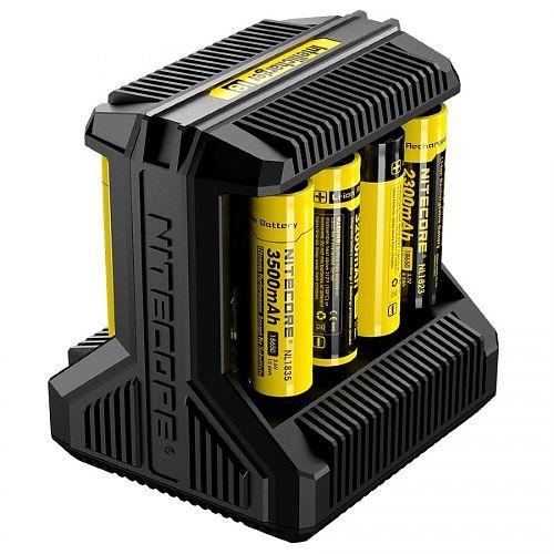 Универсальное зарядное устройство Nitecore I8  8 слотов. Универсальная. IMR, Li-ion, Ni-MH, Ni-Cd