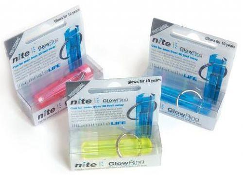 Тритиевый брелок Nite GlowRing  Цвет на выбор. Без батареек, горит 10 лет