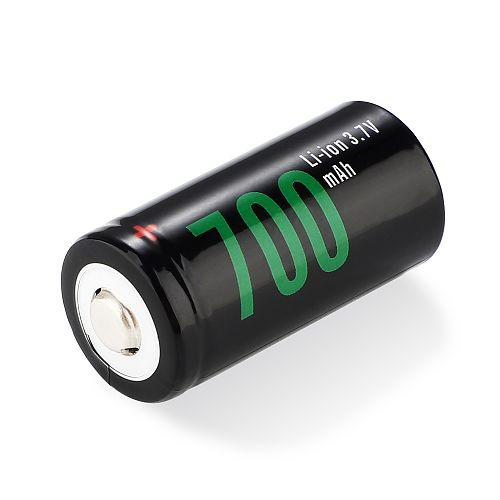 SOSHINE Аккумулятор RCR123 / 16340  Li-ion 3.7V 700mAh 2.59Wh с защитой (19720)   Li-ion RCR123/16340с защитой: 700mAh 3.7 V