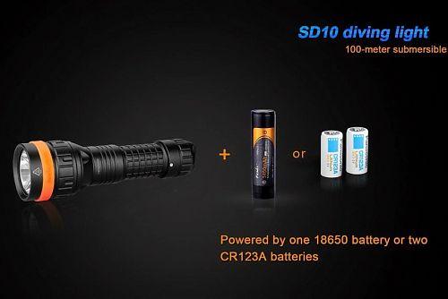 Подводный фонарь с технологией управления движением