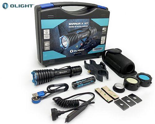 Фонарь для охоты  Olight Warrior X полный комплект  Фонарь+выносная кнопка+ крепление+фильтры