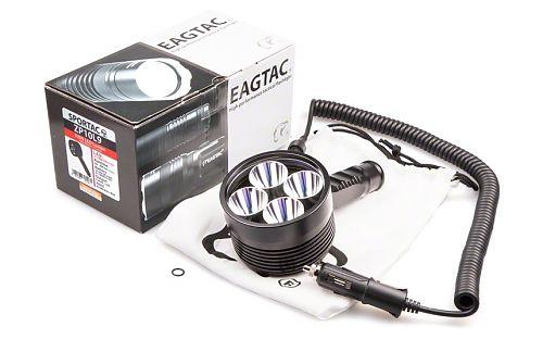Удобный ручной фонарь-прожектор с питанием от автомобиля