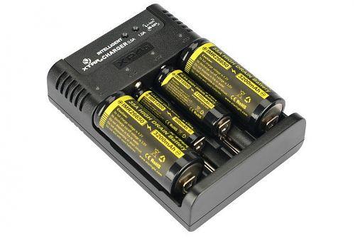 Зарядное устройство XTAR XP4c для Li-ion/Ni-Mh/Ni-Cd аккумуляторов  Для Li-ion/Ni-Mh/Ni-Cd.Ток заряда 0,5 и 1 Ампер регулируется автоматически