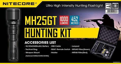 Фонарь Nitecore  MH25GT HUNTING KIT  Фонарь MH25GT - комплект охотника