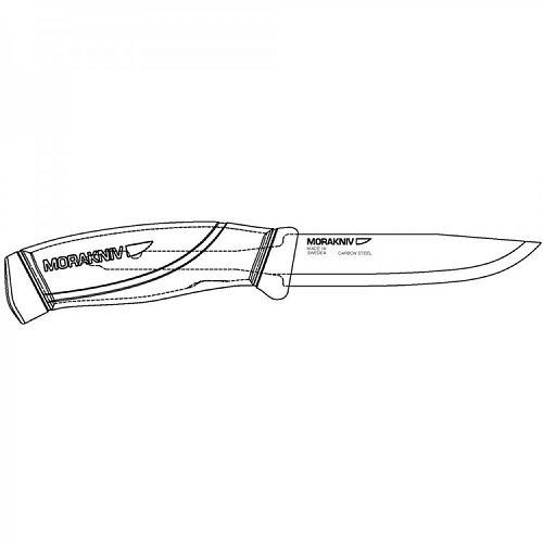 Нож Morakniv Companion Tactical BlackBlade, нержавеющая сталь  Нож из нержавеющей стали
