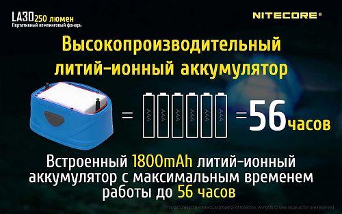 Работа от встроенного аккумулятора или 2 батареек АА. Магнит