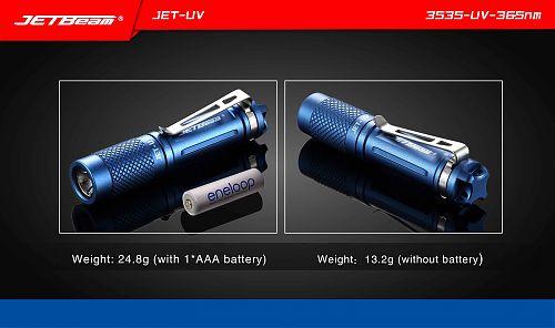 Ультрафиолетовый фонарь JETBeam JET-UV  Малогабаритный ультрафиолетовый фонарик - брелок. 365nm