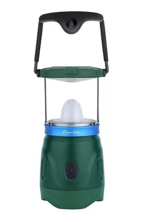 Кемпинговый светодиодный фонарь Olight Olantern Moss Green купить с доставкой по России в магазине Fonariki.ru  Встроенный в корпус фонаря магнитный разъем для зарядки. Встроенный аккумулятор.