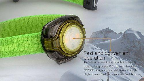 Многофункциональный налобный фонарь Fenix HL05  Миниатюрный фонарик с теплым рассеянным светом