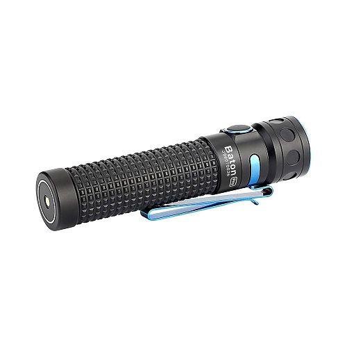 Аккумуляторный ручной фонарь Olight Baton Pro  Компактный. Магнит в торце. Магнитная зарядка