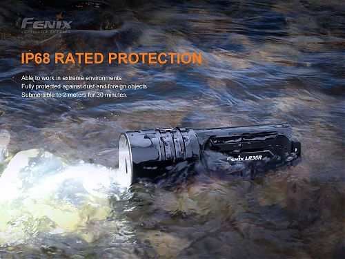 Супермощный фонарь Fenix LR35R (6 x LUMINUS SST40, 10000 лм, 21700)  Очень яркий. Долгое время работы. USB Type-C