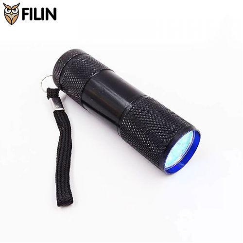 Ультрафиолетовый фонарик Filin P09UV-395 с длиной волны 395нм для сушки лака и проверки меток животных  Ультрафиолетовый фонарь. Длина волны 395 нм