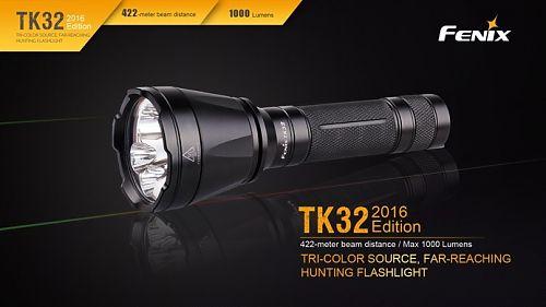 Фонарь Fenix TK32 Cree XP-L HI V3 2016 Edition   1000лм. Дополнительные цветные светодиоды