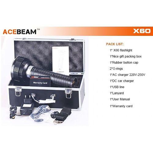 Мощный поисковый фонарь Supbeam X60