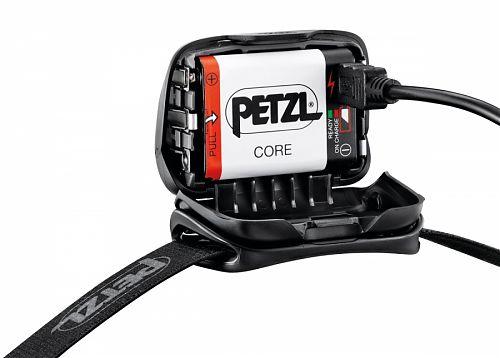 Фонарь светодиодный налобный Petzl Tactikka Core (E99ADA) черный, 350 лм, аккумулятор  ближний/дальний свет, красный дополнительный свет, аккумулятор